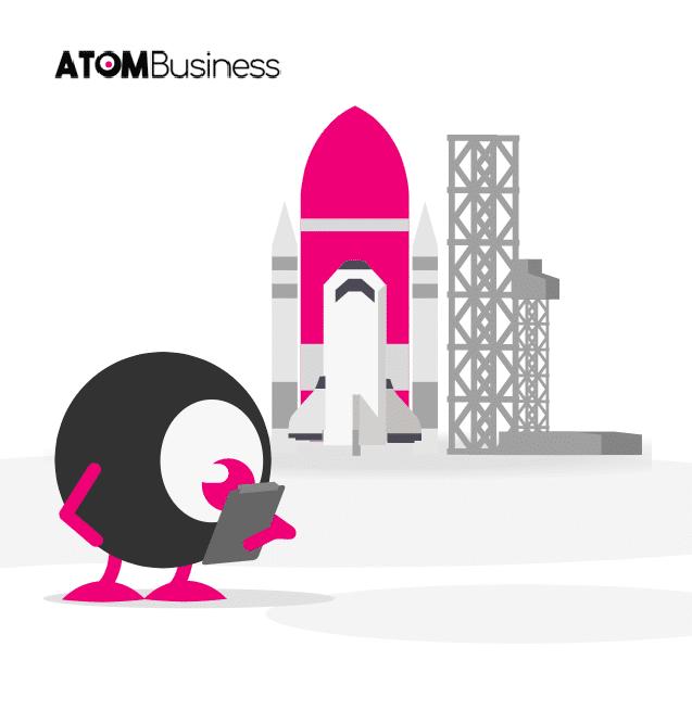 image symobilsant atom business